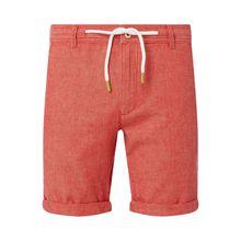Chino-Shorts aus Leinen-Baumwoll-Mix  mit Kordelzug