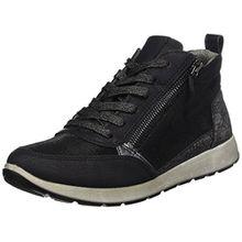 Jenny Damen Glendale-St Hohe Sneaker, Grau (Schwarz,Titan), 42 EU
