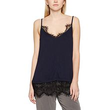 French Connection Damen Pullunder Swift Drape Strappy Vest Top, Blau (Blue 40), 38 (Herstellergröße: M)