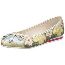 TOM TAILOR 9672005, Mädchen Slingback Ballerinas, Mehrfarbig - Mehrfarbig - Multicolore (Rose) - Größe: 36