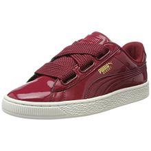 Puma Damen Basket Heart Patent Sneaker, Rot (Tibetan Red-Tibetan Red), 37 EU