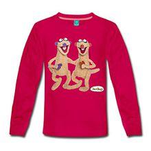 Spreadshirt Jan und Henry Kinder Premium Langarmshirt, 98/104 (2 Jahre), Dunkles Pink
