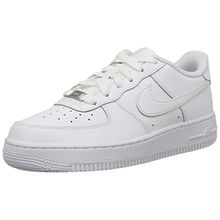 Nike Air Force 1 (GS), Unisex-Kinder Sneakers, Weiß (117 White/White-White), 36.5 EU