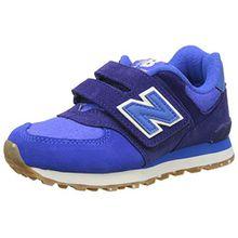New Balance Unisex-Kinder 574 Hook and Loop Sneakers, Blau (Blue), 28 EU