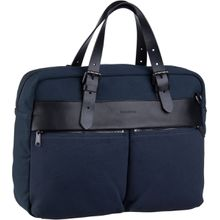 Marc O'Polo Aktentasche Theo Shoulder Bag M Rough Canvas True Navy