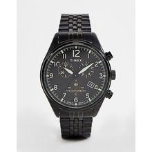 Timex ‒ Waterbury ‒ Schwarze, traditionelle Chronograph-Armbanduhr - Schwarz