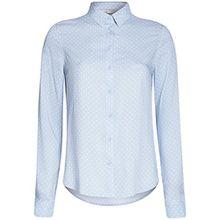 oodji Ultra Damen Viskose-Bluse Basic, Blau, DE 34/EU 36/XS