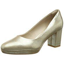 Clarks Damen Kelda Hope Pumps, Mehrfarbig (Gold Metallic), 41.5 EU