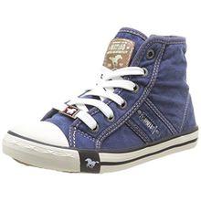 Mustang 5803-503-520 Unisex-Kinder Sneaker, Bleu (841 Jeans Blau), 35 EU
