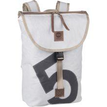360Grad Rucksack / Daypack Landgang Mini Rucksack Weiß mit grauer Zahl