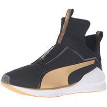 Puma Fierce Damen Hohe Sneakers, Schwarz (Black-Gold 02), 41 EU