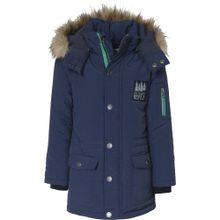 BLUE SEVEN Winterparka navy / hellbraun / mint