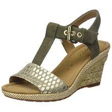 Gabor Shoes Damen Comfort Sport Riemchensandalen, Grün (Oliv (Bast)), 38 EU