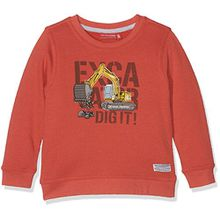SALT AND PEPPER Jungen Sweatshirt Sweat Huge Machine Bagger, Orange (Orange Melange 565), 128