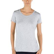 Calida Damen T-Shirt kurzarm Favourites, Gr. 38 (Herstellergröße: XS = 36/38), Grau (stein meliert 096)