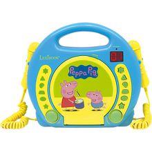 Peppa Pig Kinder CD-Player mit 2 Mikrofonen blau/gelb