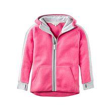 Fleece Jacke aus reiner , Organic Cotton pink Mädchen Kinder