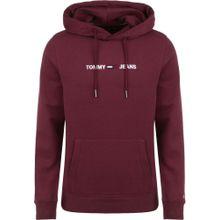Tommy Jeans Sweatshirt burgunder / weiß