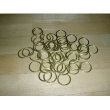 50x Messing Gardine, Raffrollo, Ringe 25mm 2,5cm Nähen Raffhaltern