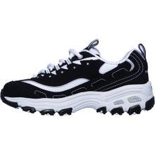 SKECHERS Sneakers 'D'LITES BIGGEST FAN' schwarz / weiß