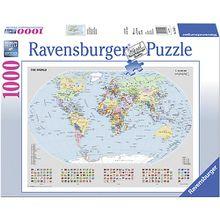 Puzzle 1000 Teile, 70x50 cm, Basic- Politische Weltkarte