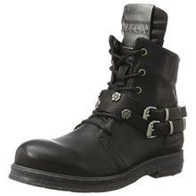 Replay Damen Discret Biker Boots, Schwarz (Black), 40 EU