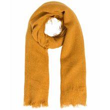 PIECES POKSY - Einfarbig gewebter Schal - Orange