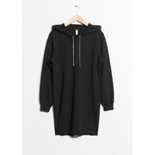 Hoodie Sweater Dress - Black