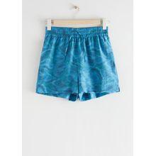 Relaxed Drawstring Shorts - Blue