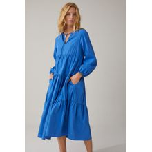 CLOSED Popeline Maxikleid bluebird