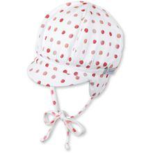 Sterntaler Ballonmütze mit Schirm - Punkte