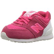 New Balance Unisex-Kinder Sneaker, Pink (Pink/White), 38 EU (5 UK)
