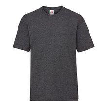 Fruit of the Loom Kinder Unisex T-Shirt, kurzärmlig (7-8 Jahre (128)) (Dunkelgrau meliert)