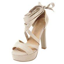 Plateau High Heel Sandalen mit Schnürung Blockabsatz Gladiator Sandalen mit Absatz Party Schuhe