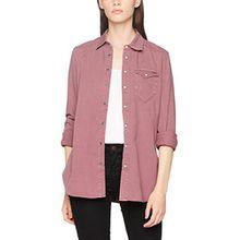 G-STAR RAW Damen Hemd Tacoma Straight 1Pkt Shirt Wmn L/s, Violett (Dk Berry Mist 8145), Large