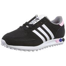 adidas Damen LA Trainer Sneaker, Schwarz (Core Black/FTWR White/Clear Pink), 36 EU