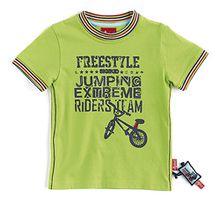 Sigikid Jungen T-Shirt Mini Kollektion Bike Tour Gr. 110, Grün (Greenery 329)