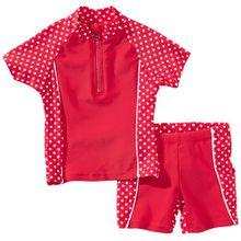 Playshoes Mädchen 2-teiliges Bade-Set Punkte mit UV-Schutz
