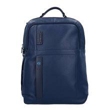 Piquadro Pulse Rucksack Leder 43 cm Laptopfach blau