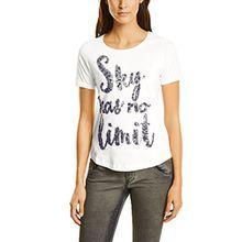Street One Damen T-Shirt 311641, Weiß (Off White 20108), 36