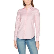 GANT Damen Hemd Stretch Oxford Solid Shirt, Rosa (Light Pink), 10 (Herstellergröße: 36)