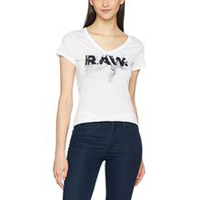 G-STAR RAW Damen T-Shirt Daefera Slim V T Wmn S/S, Weiß (White 110), X-Large