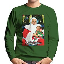 Merry Cagemas Santa Knee Nicolas Cage Christmas Men's Sweatshirt