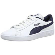 Puma Unisex-Kinder Smash v2 L Jr Sneaker, Blau White-Peacoat, 36 EU