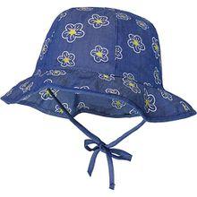 Sonnenhut mit Nackenschutz zum Binden  blau Mädchen Kleinkinder