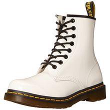 Dr. Martens 1460 Patent WHITE, Damen Combat Boots, Weiß (White), 37 EU (4 Damen UK)