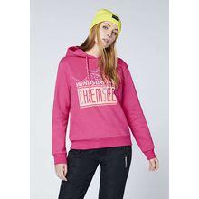 CHIEMSEE Sweatshirt mit Kapuze und großem Frontprint - GOTS zertifiziert pink Damen