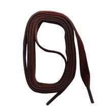 SNORS shoefriends Schnürsenkel Samt flach 90-130cm, 9mm Schnürsenkel dunkelbraun