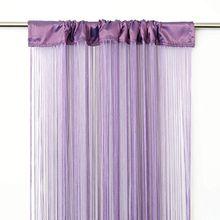 VICTORIA M Leonora Vorhang - Fadenvorhang 100 x 245cm, flieder, 2er Pack