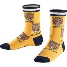 Socken Tiger Allover  gelb Jungen Kleinkinder
